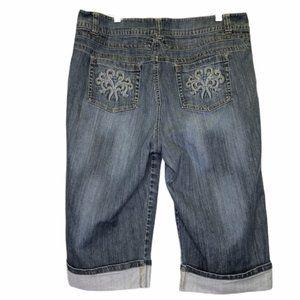 Lane Bryant Cropped Capri Jeans Cuffed 18